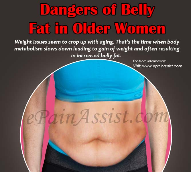 Dangers of Belly Fat in Older Women!