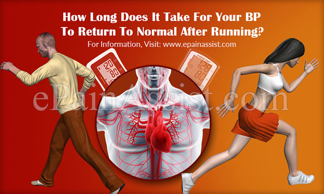 How Long Does It Take For Your BP To Return To Normal After Running?