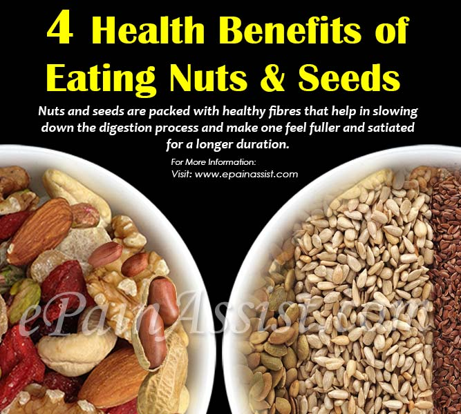 4 Health Benefits of Eating Nuts & Seeds