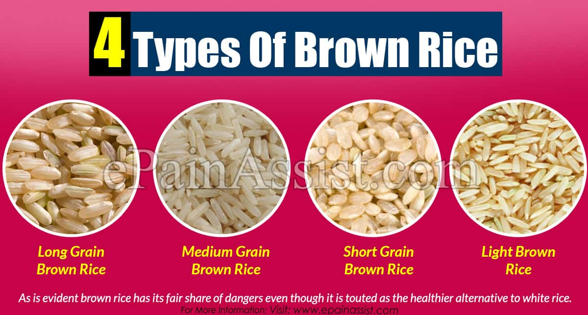 4 Types Of Brown Rice