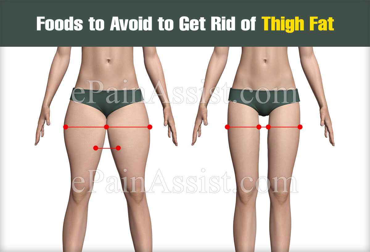Foods to Avoid to Get Rid of Thigh Fat