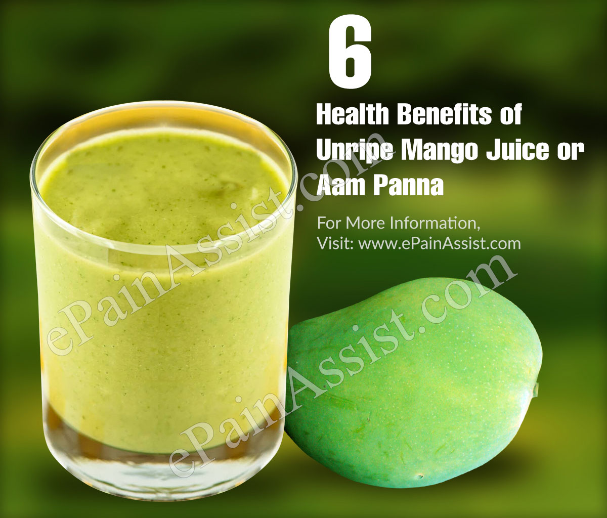 6 Health Benefits of Unripe Mango Juice or Aam Panna
