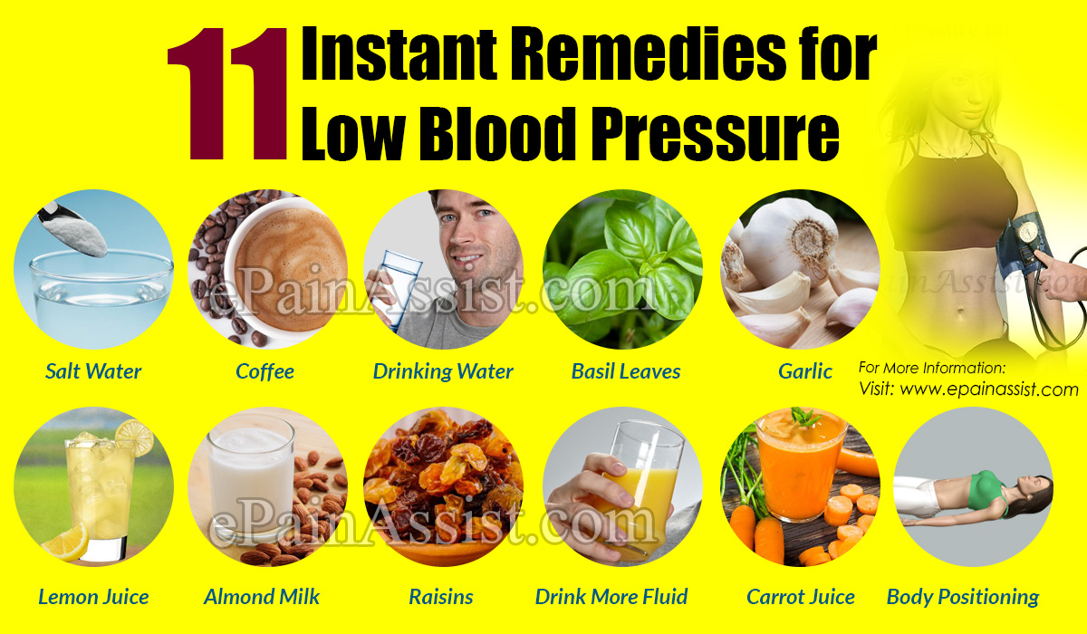11 Instant Remedies for Low Blood Pressure