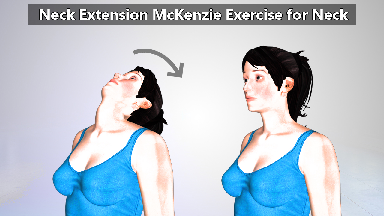 Sitting Neck Extension McKenzie Exercise for Neck