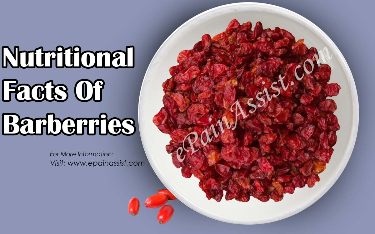 Nutritional Facts Of Barberries