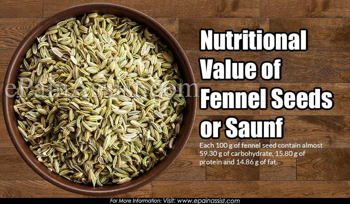 Nutritional Value of Fennel Seeds or Saunf