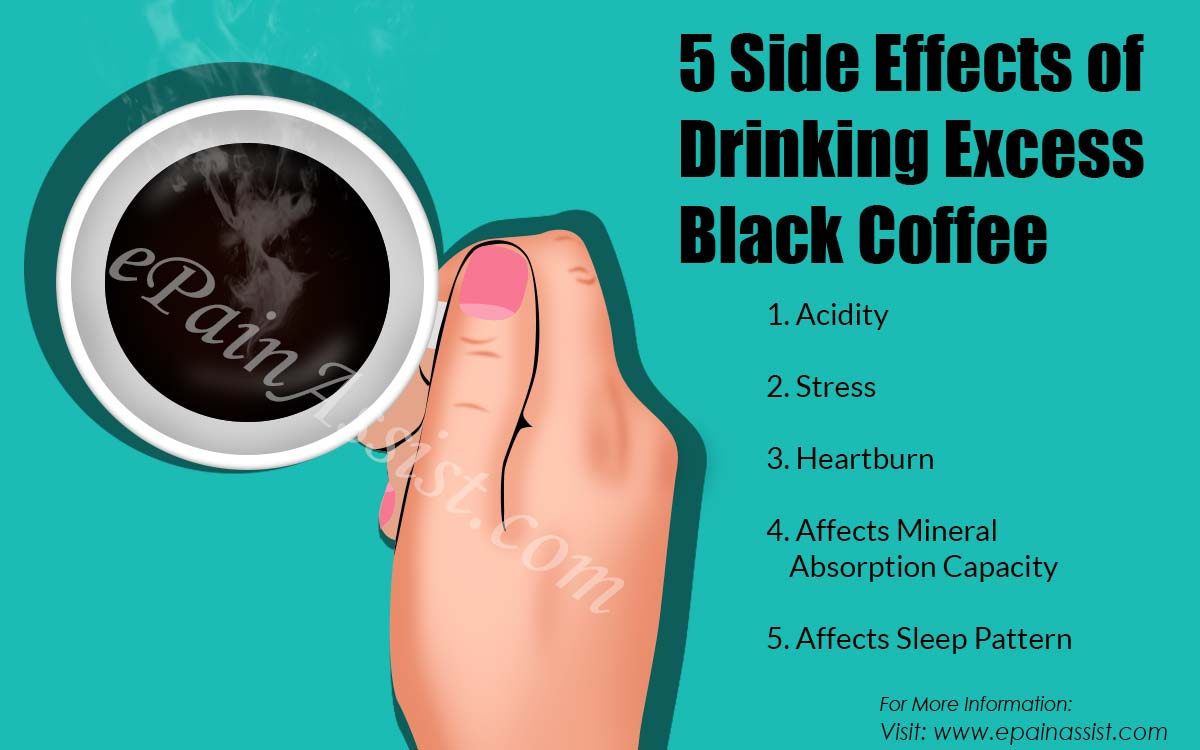 5 Side Effects of Drinking Excess Black Coffee