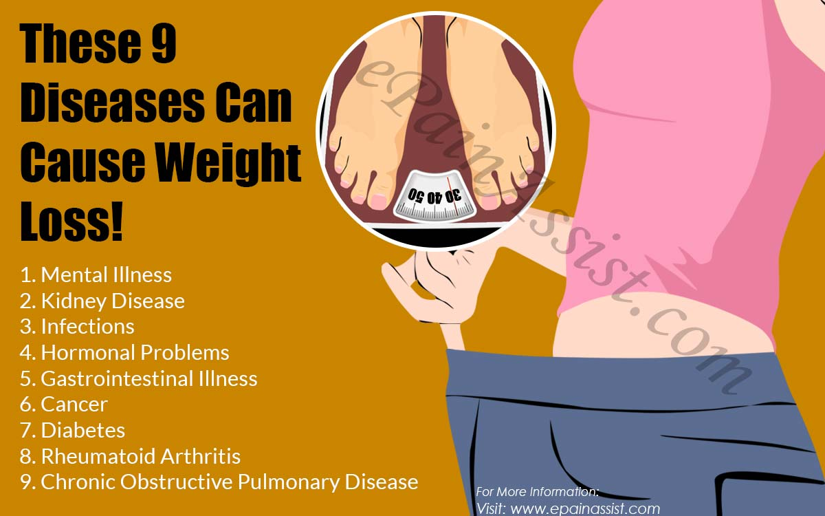 These 9 Diseases Can Cause Weight Loss