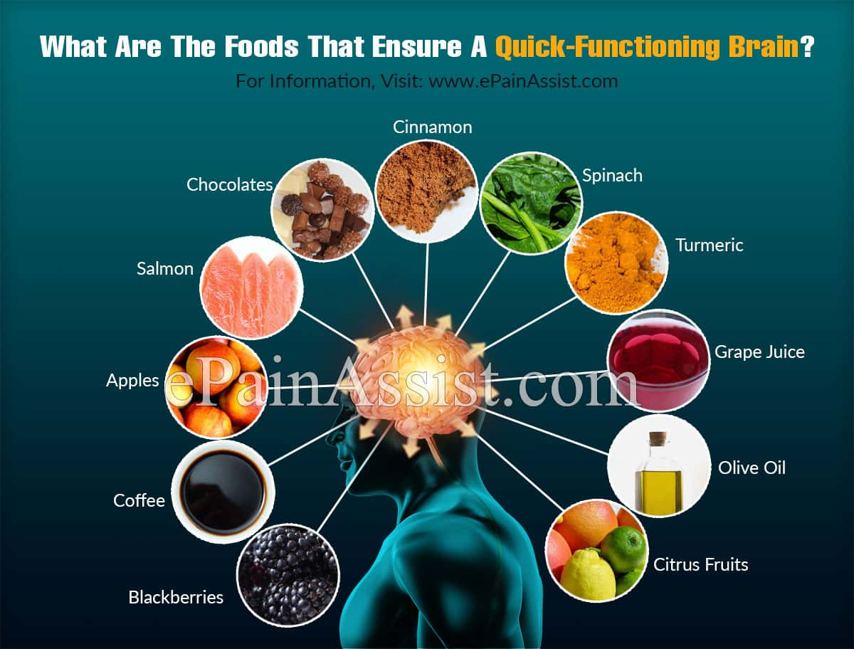 What Are The Foods That Ensure A Quick-Functioning Brain?