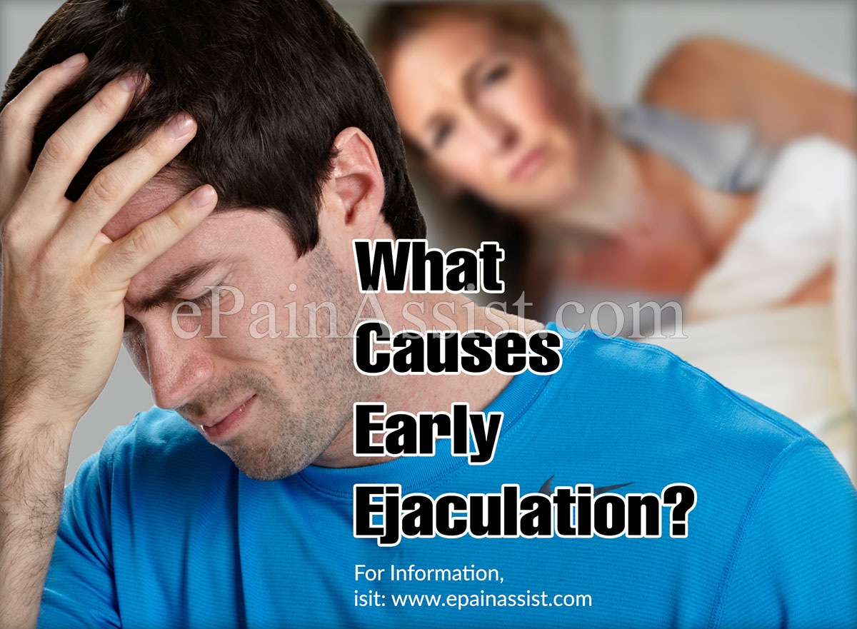 Risk of early and premature ejaculation!
