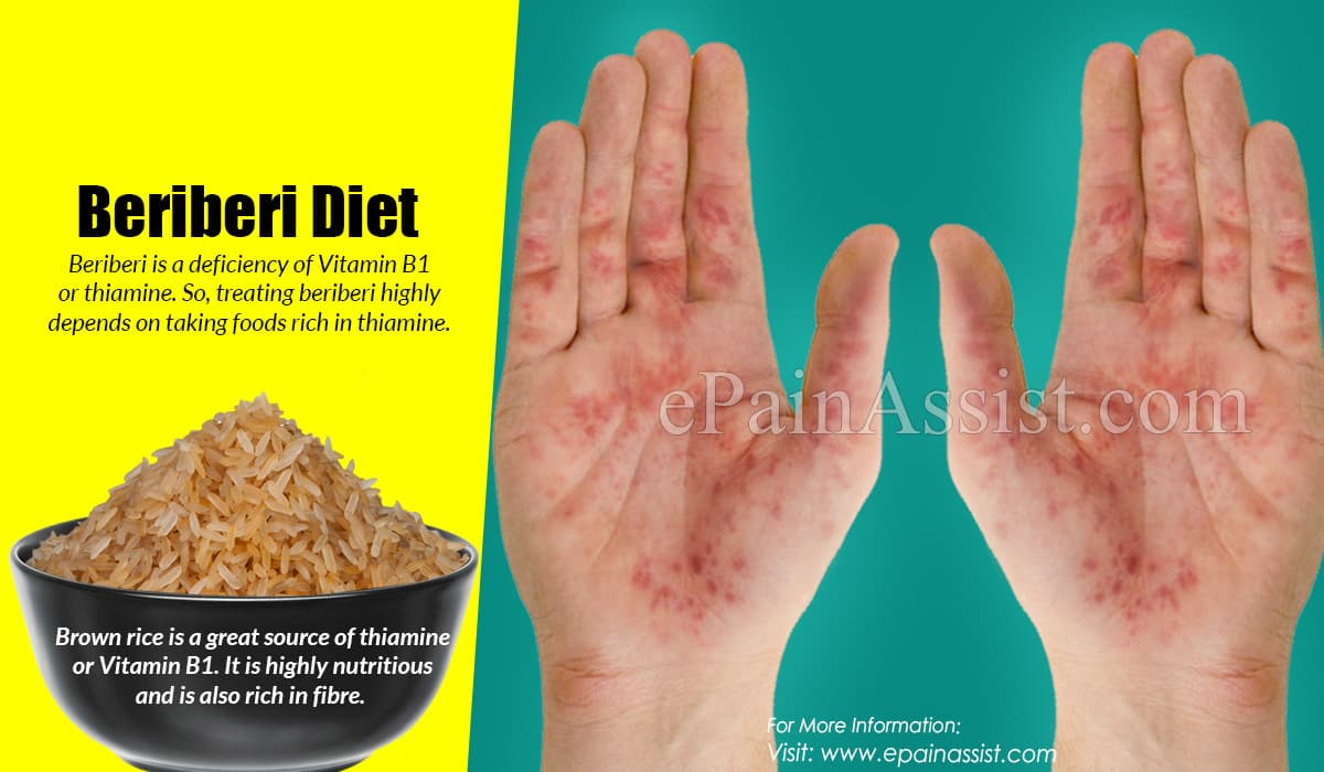 Beriberi Diet: Thiamine (Vitamin B1) Rich Foods Or Plant-Origin & Animal Origin For Beriberi