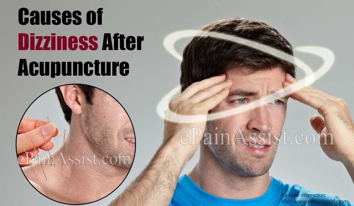 Causes of Dizziness After Acupuncture