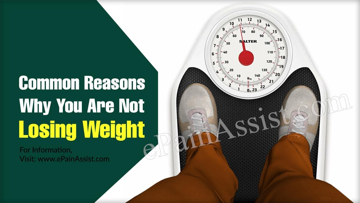 Common Reasons Why You Are Not Losing Weight