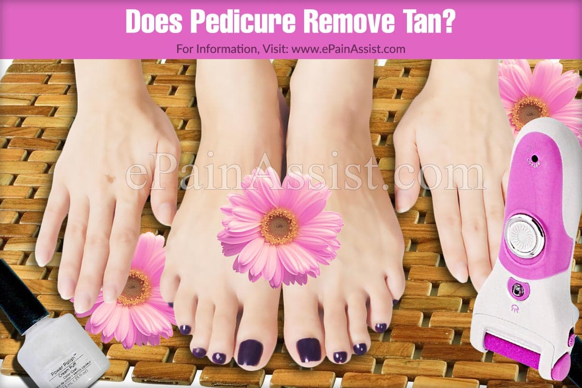 Does Pedicure Remove Tan?