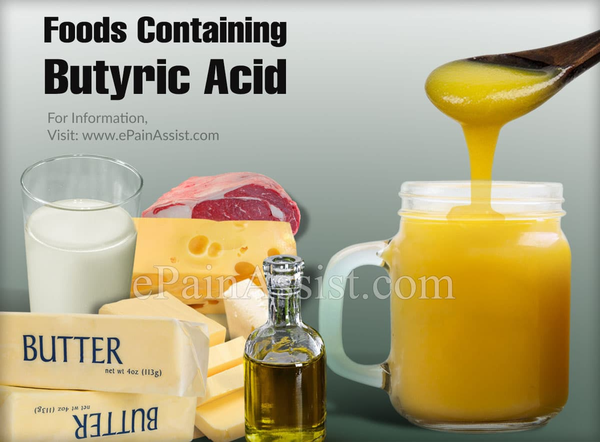 Foods Containing Butyric Acid