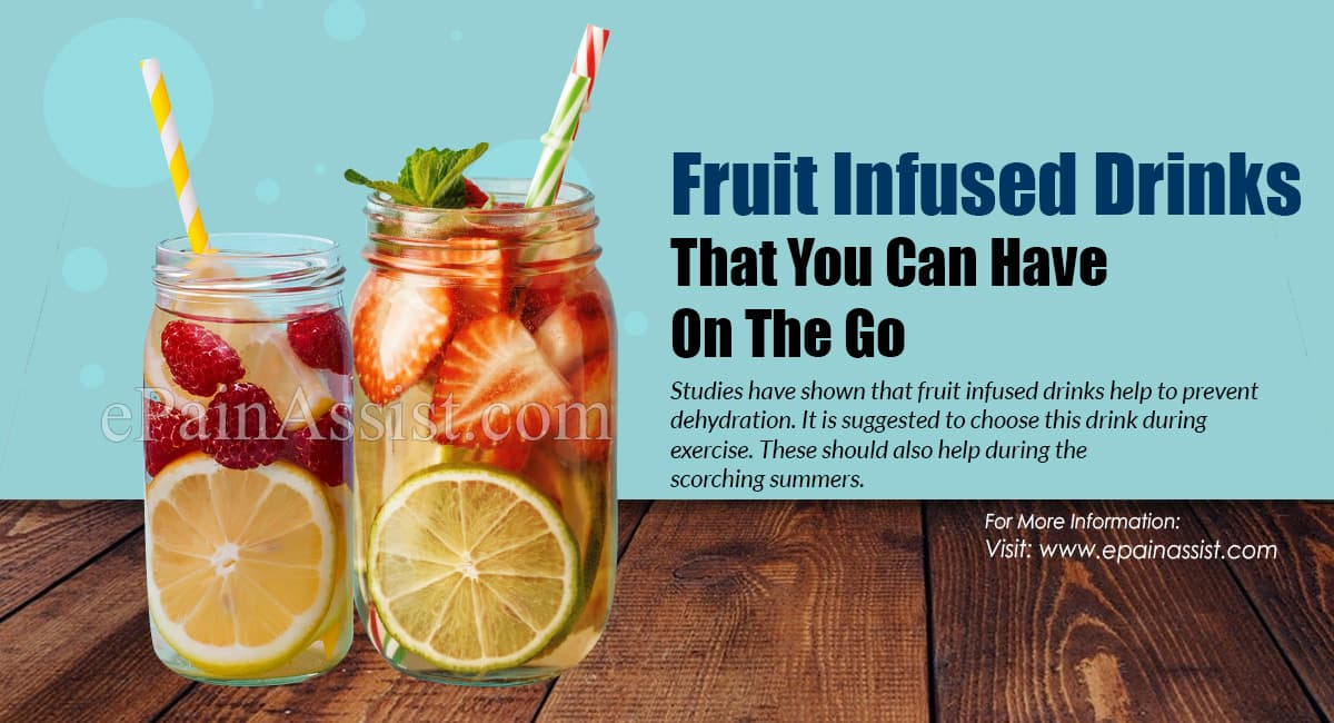 Fruit Infused Drinks That You Can Have On The Go