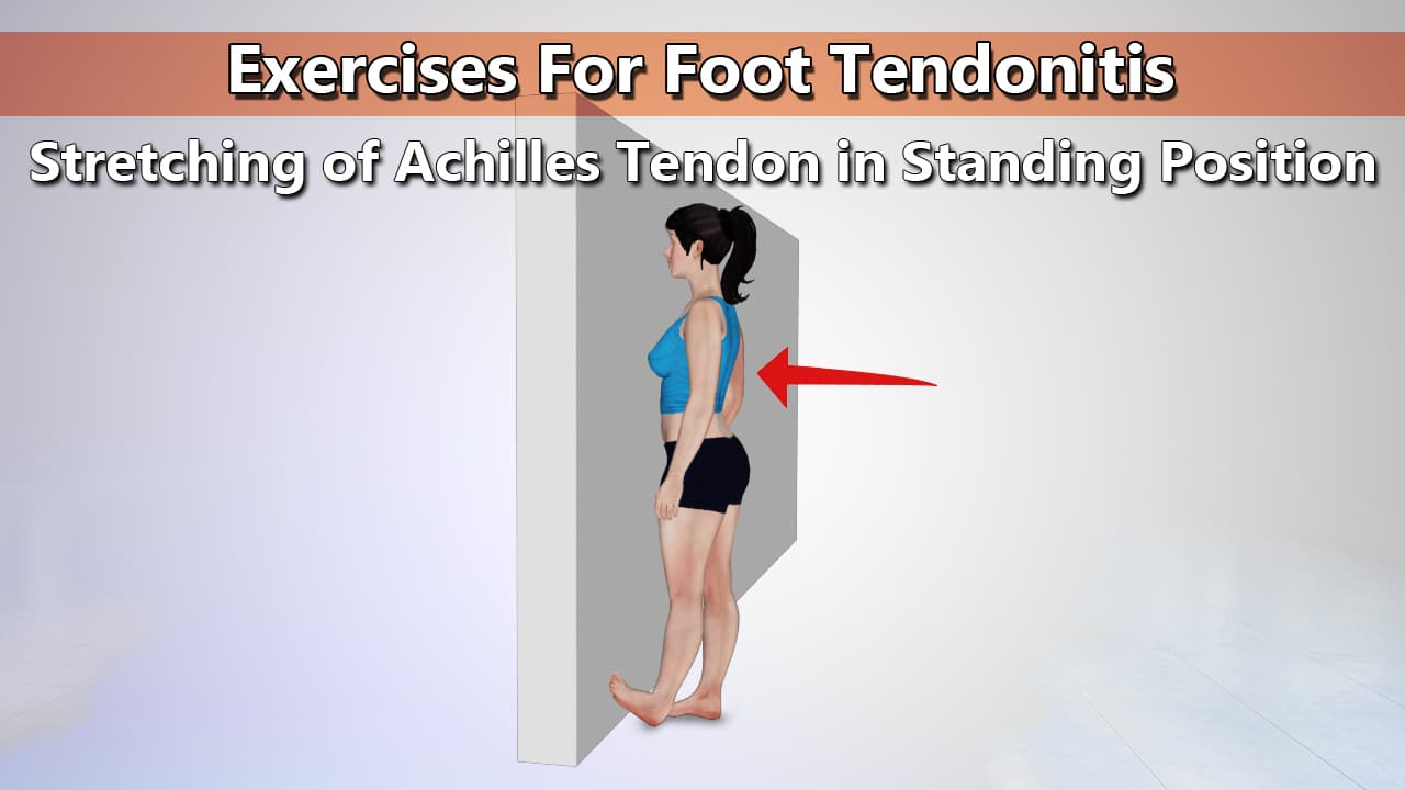 Heel Cord Stretch Exercise for Foot Tendonitis