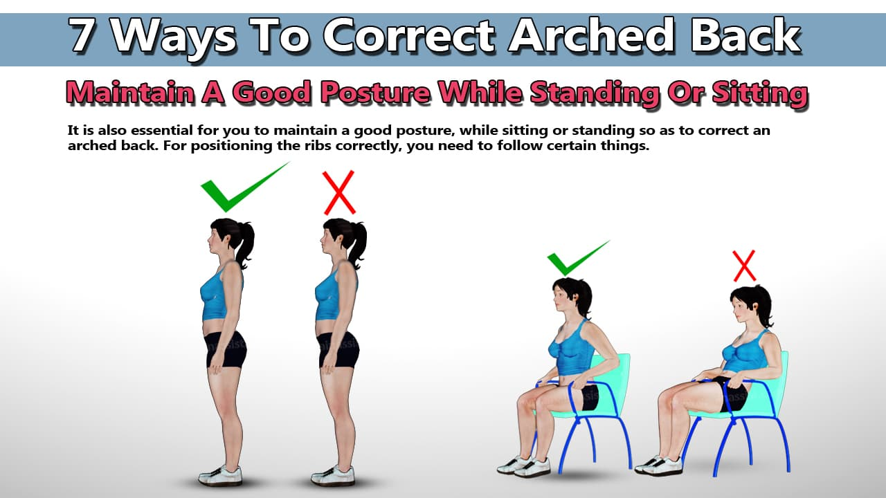 Maintain A Good Posture While Standing Or Sitting