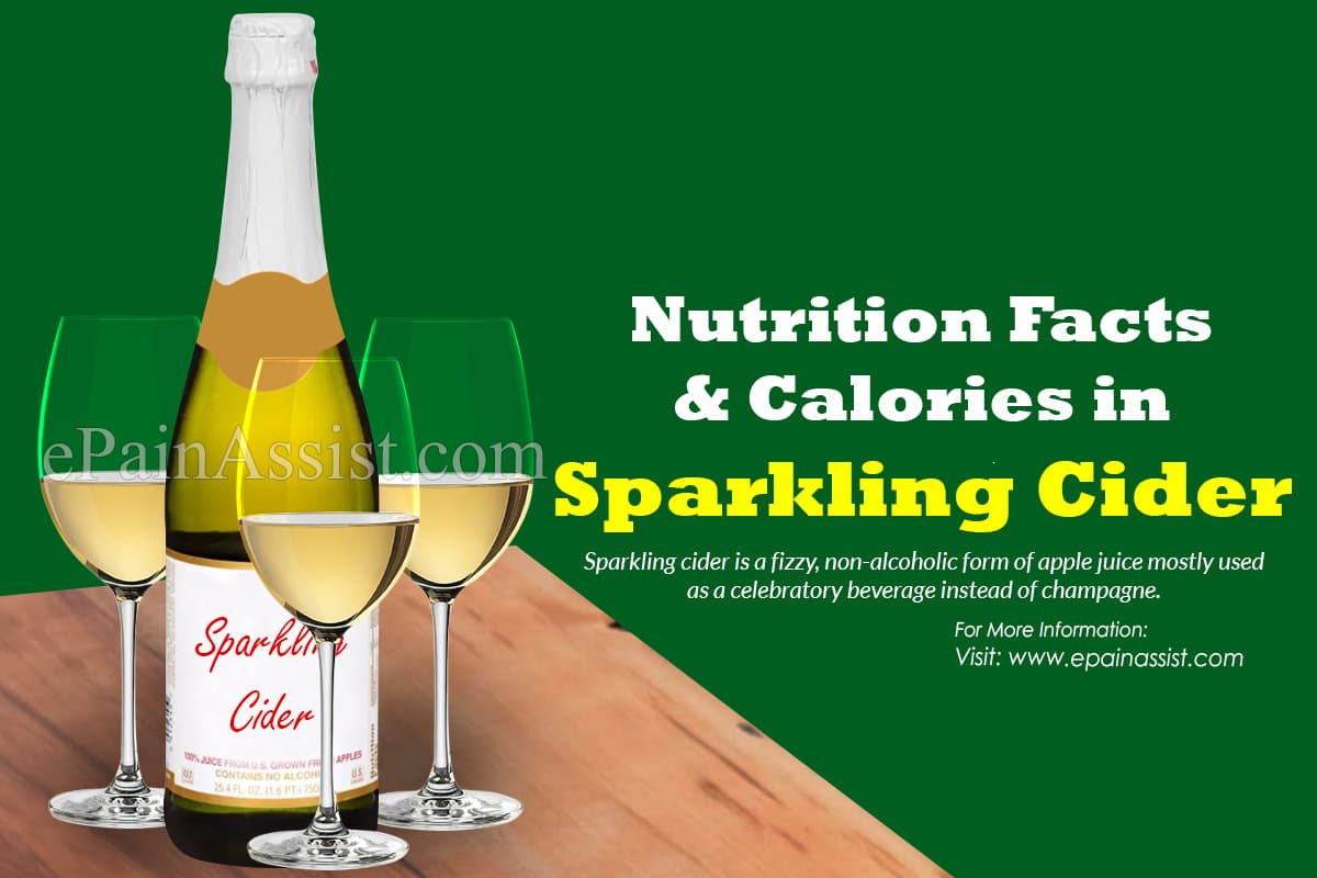 Nutrition Facts & Calories in Sparkling Cider