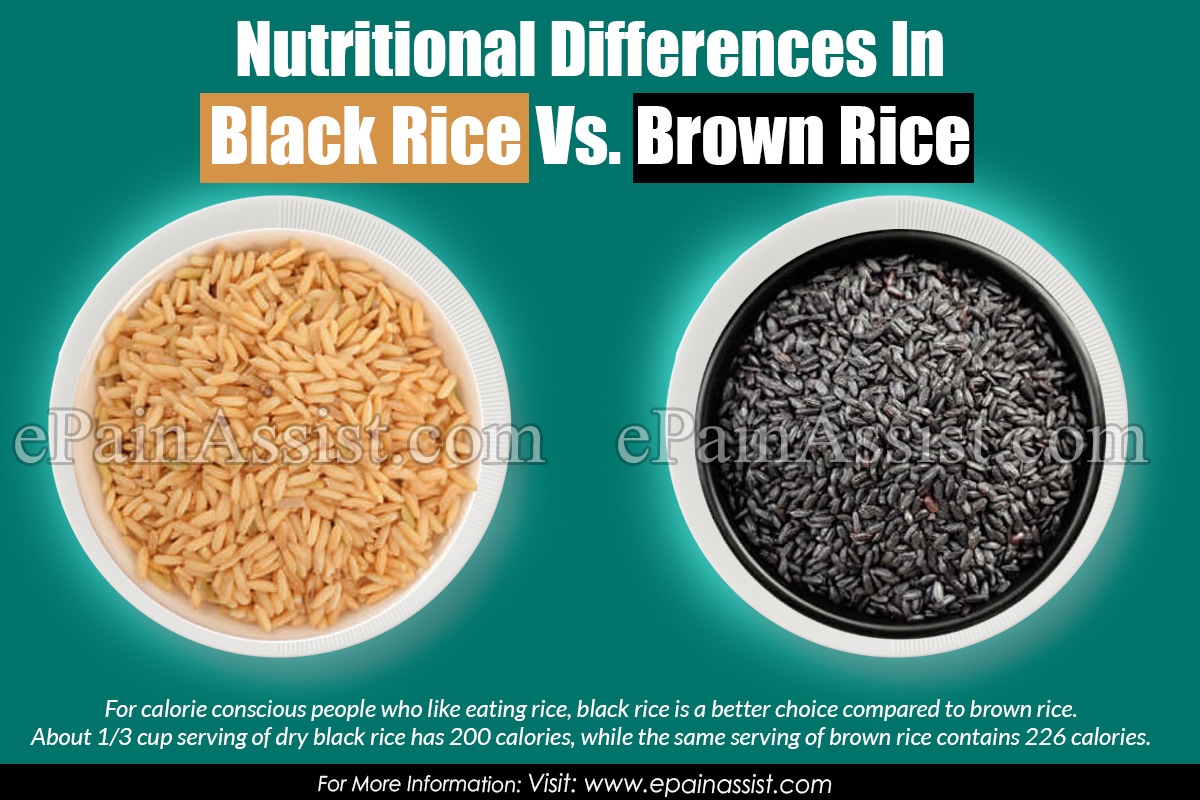 Nutritional Differences In Black Rice Vs. Brown Rice