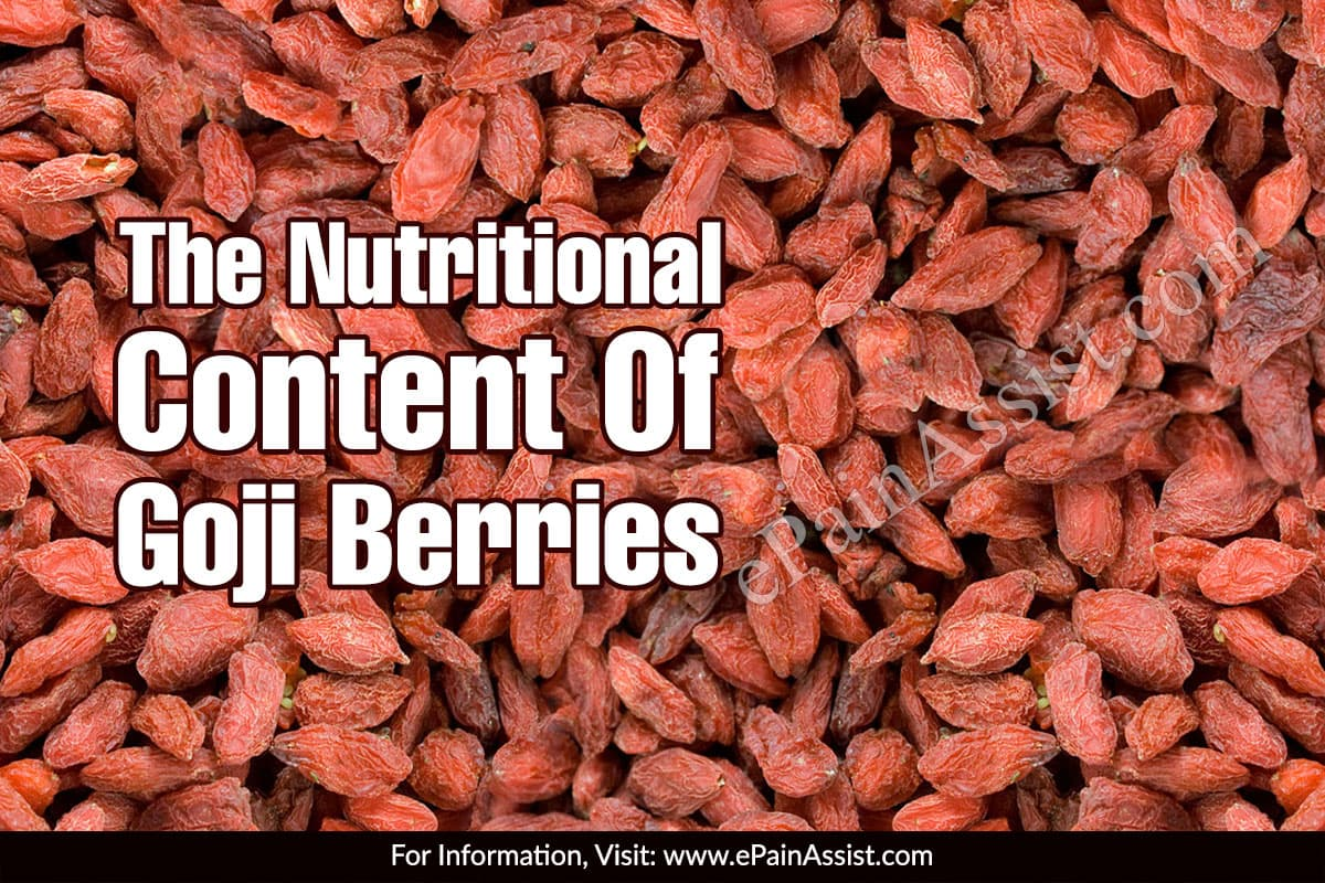 The Nutritional Content Of Goji Berries