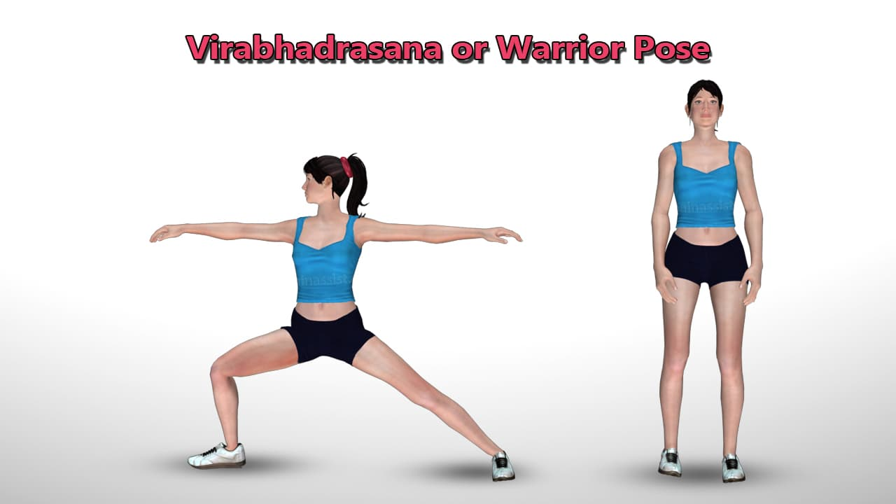 Warrior Pose or Virabhadrasana For Controlling Anxiety Disorder