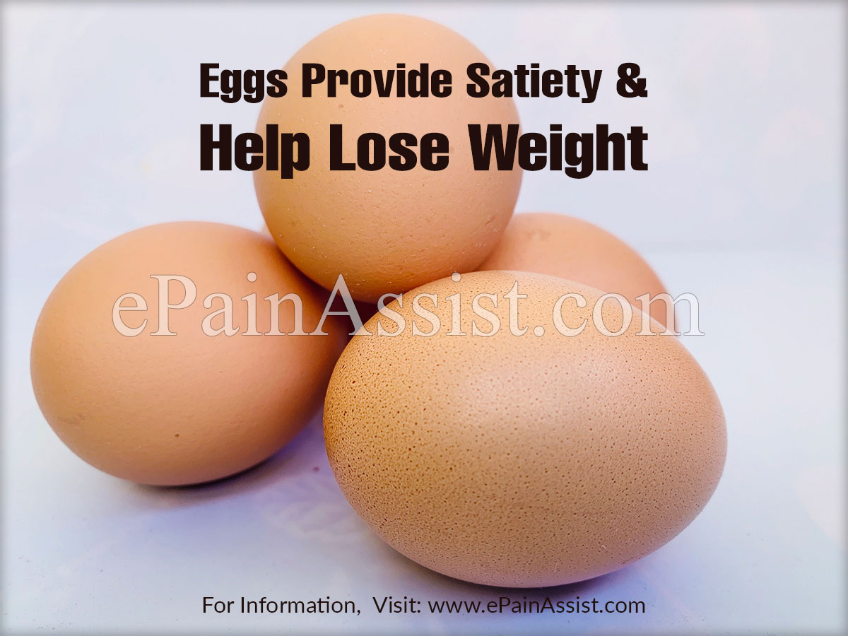 Eggs Provide Satiety and Help Lose Weight