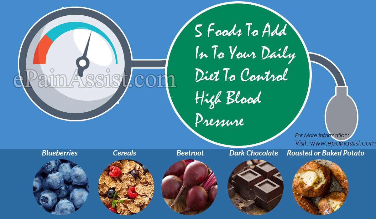 5 Foods To Add In To Your Daily Diet To Control High Blood Pressure