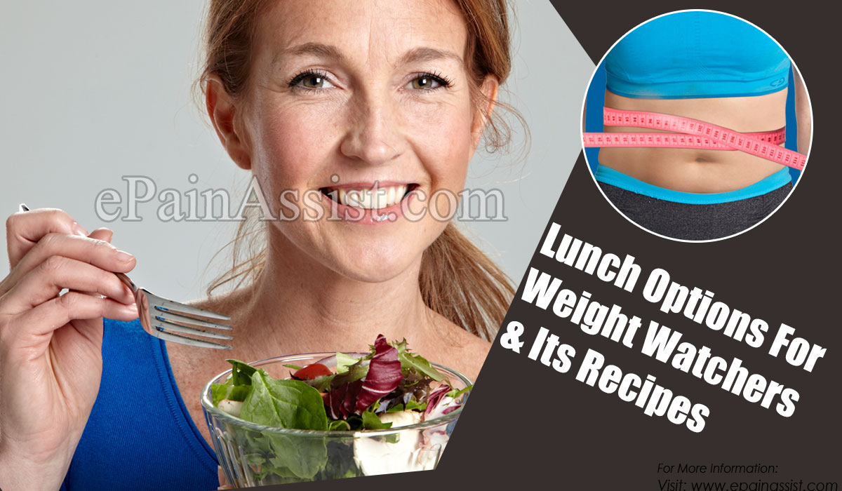 Lunch Options For Weight Watchers & Its Recipes