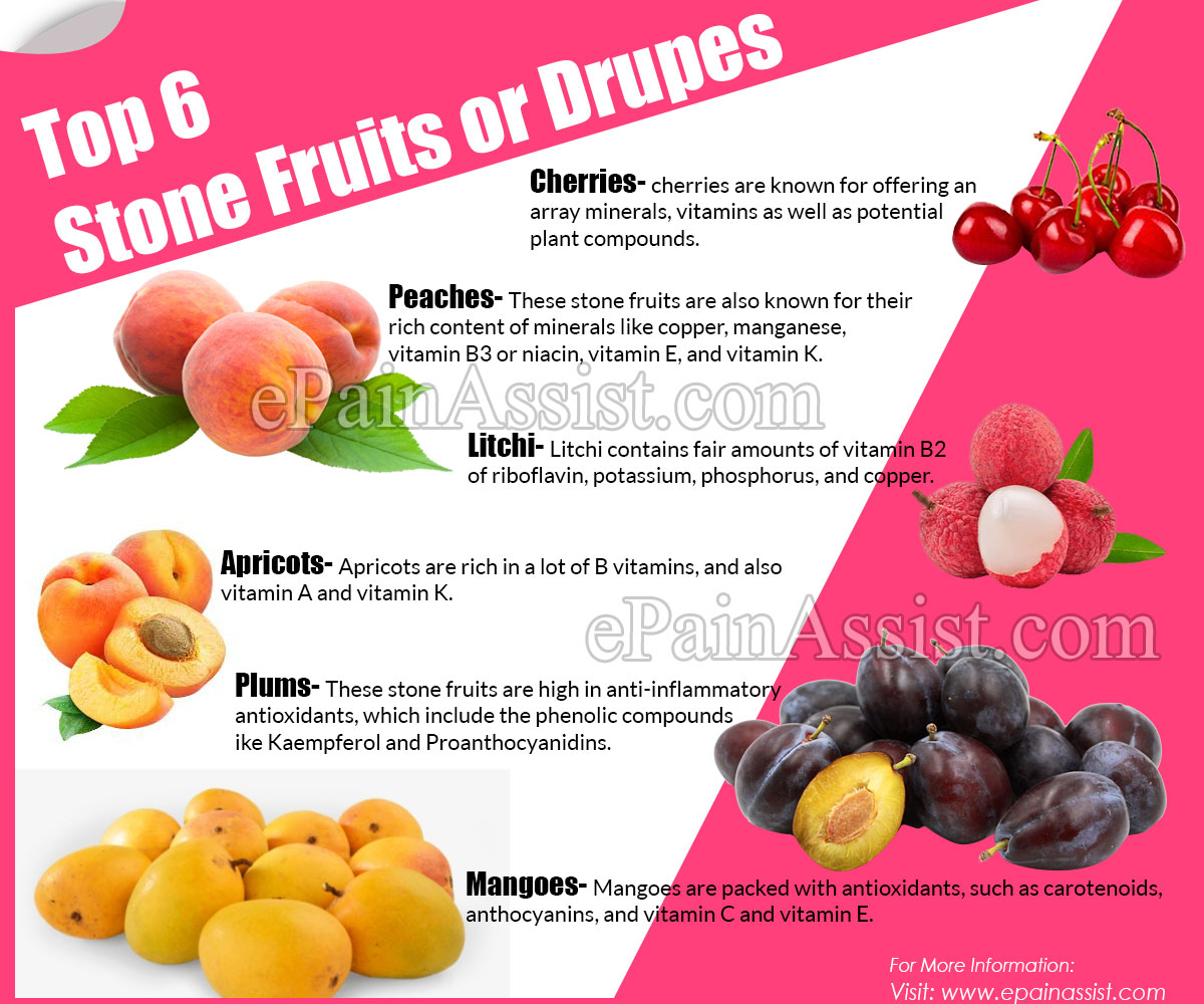 Top 6 Stone Fruits or Drupes & Their Health Benefits