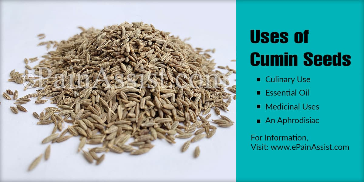 Uses of Cumin Seeds