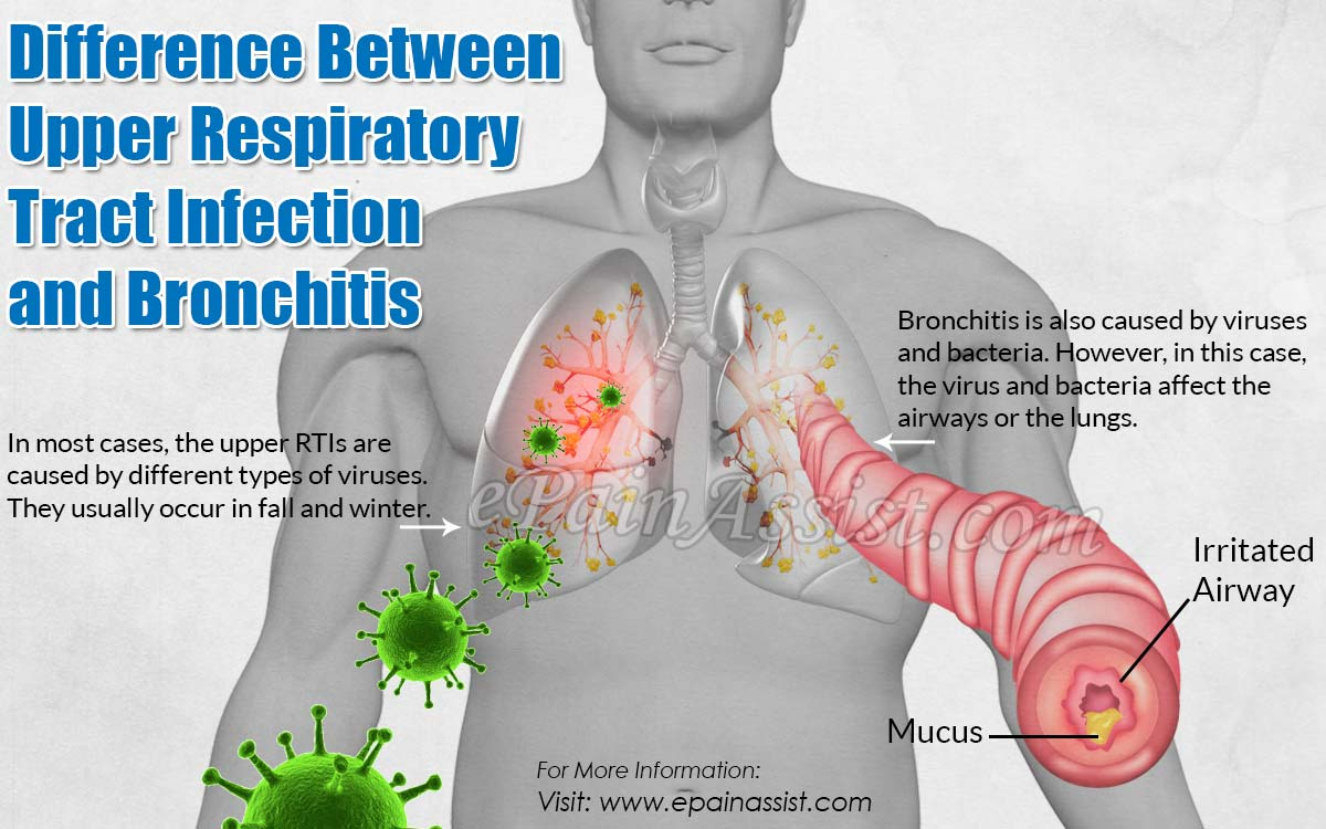 difference between upper respiratory tract infection and bronchitis