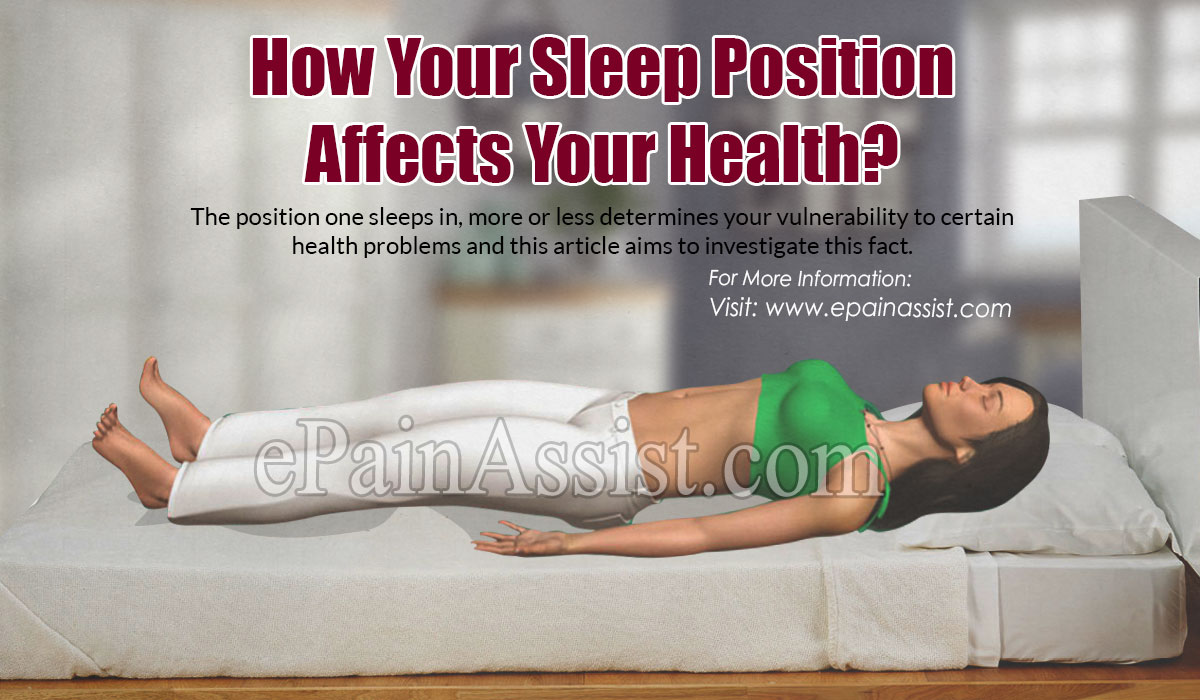 How Your Sleep Position Affects Your Health?