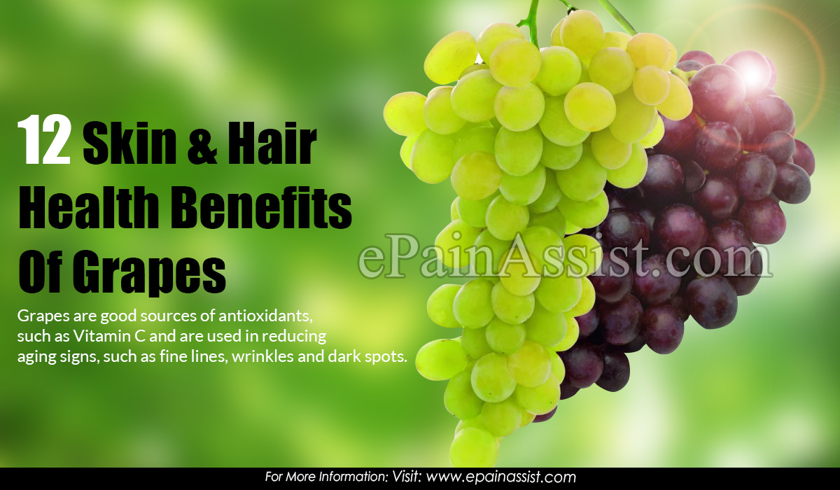 12 Skin & Hair Health Benefits Of Grapes