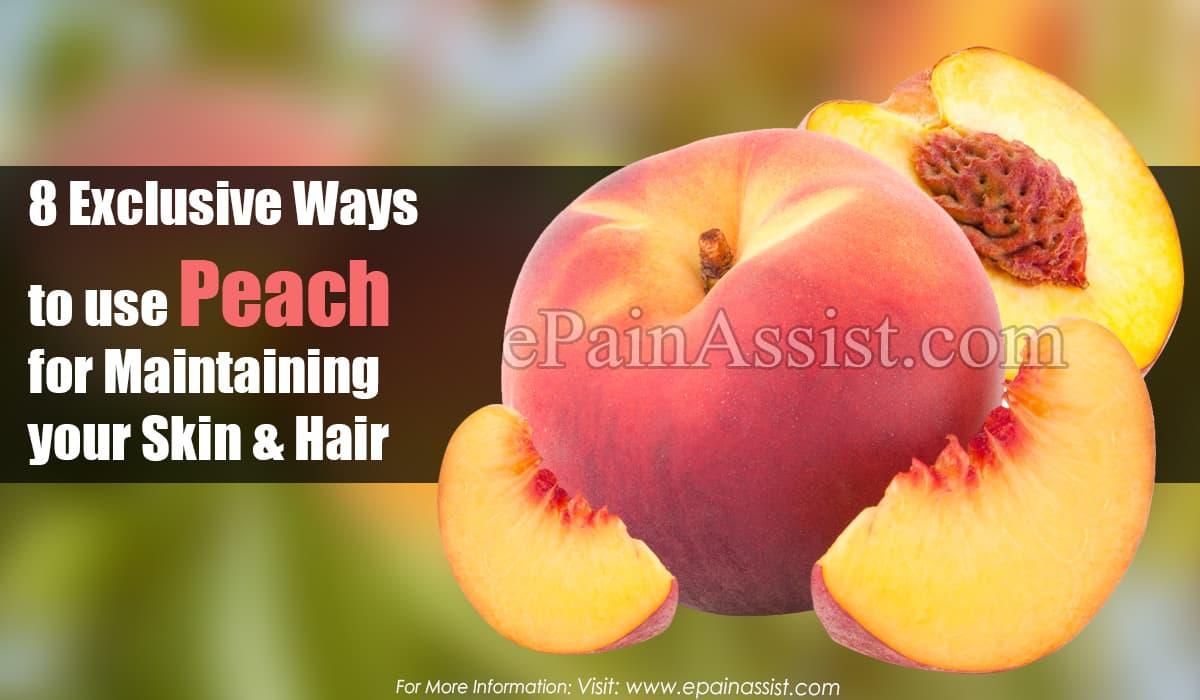 8 Exclusive Ways to use Peach for maintaining your Skin & Hair