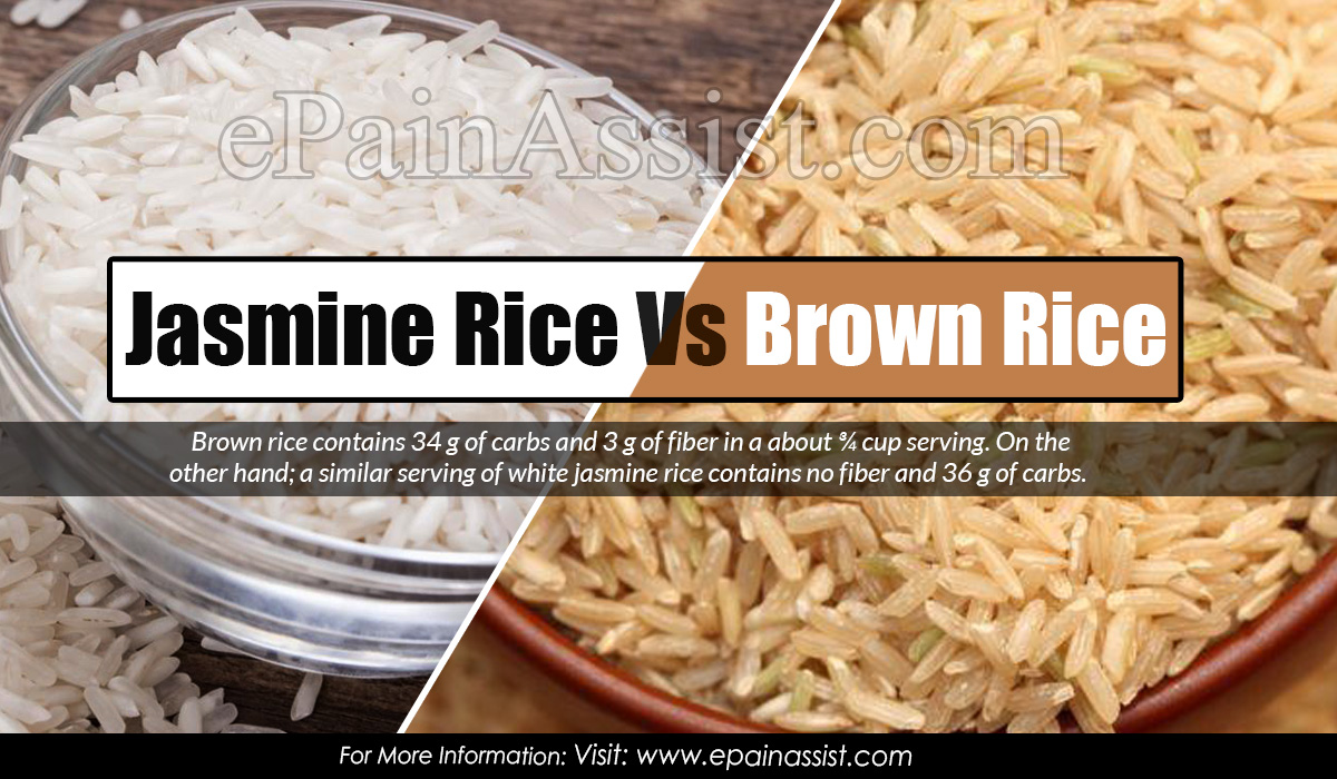 Jasmine Rice Vs Brown Rice Nutrition Facts