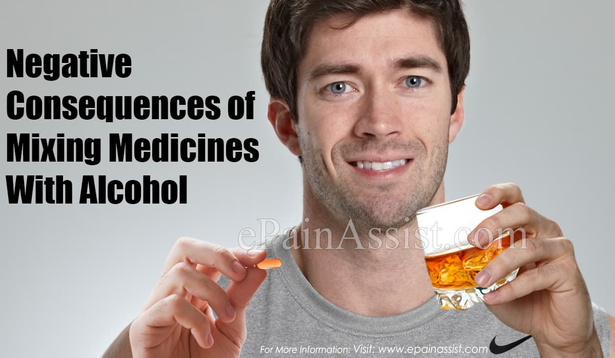 Medicines To Avoid When Taking Alcohol