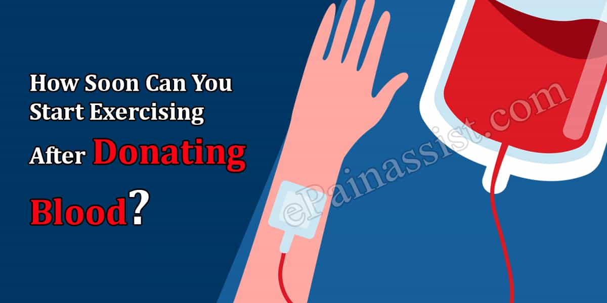 How Soon Can You Start Exercising After Donating Blood?