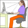 Workplace or Office Ergonomics: Positioning of Chair, Monitor, Desk, Mouse