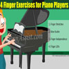 4 Finger Exercises for Piano Players