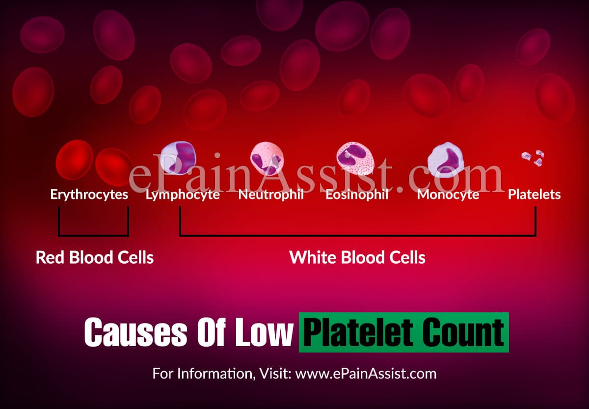 Causes Of Low Platelet Count or Thrombocytopenia
