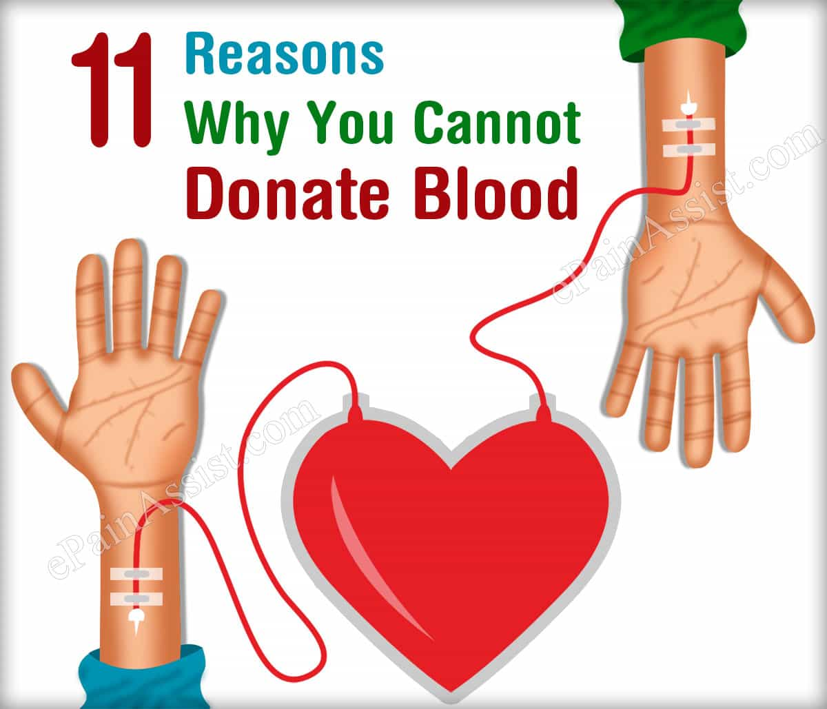 11 Reasons Why You Cannot Donate Blood