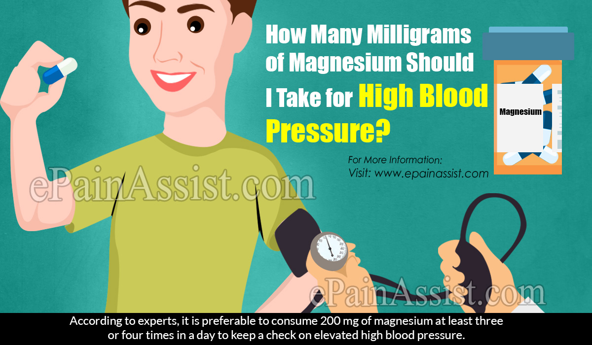 how many mg for high blood pressure