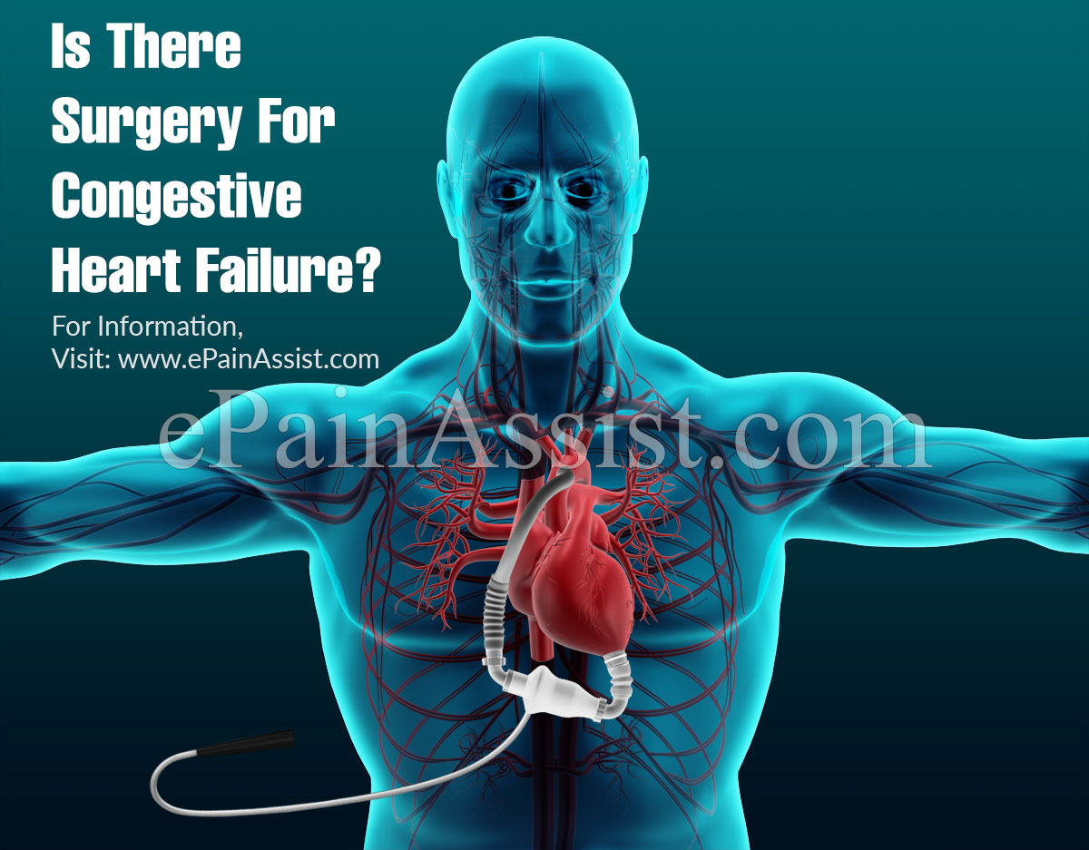 Is There Surgery For Congestive Heart Failure?