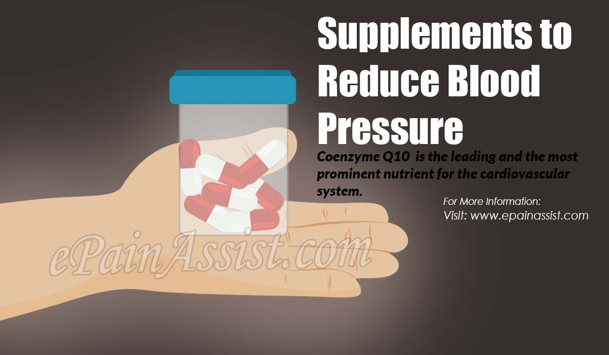 Supplements to Reduce Blood Pressure