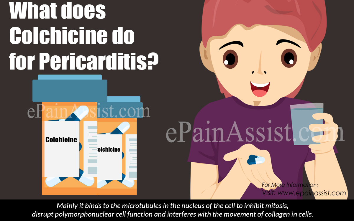 What does Colchicine do for Pericarditis?
