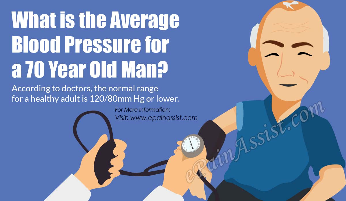 What is the Average Blood Pressure for a 70 Year Old Man?