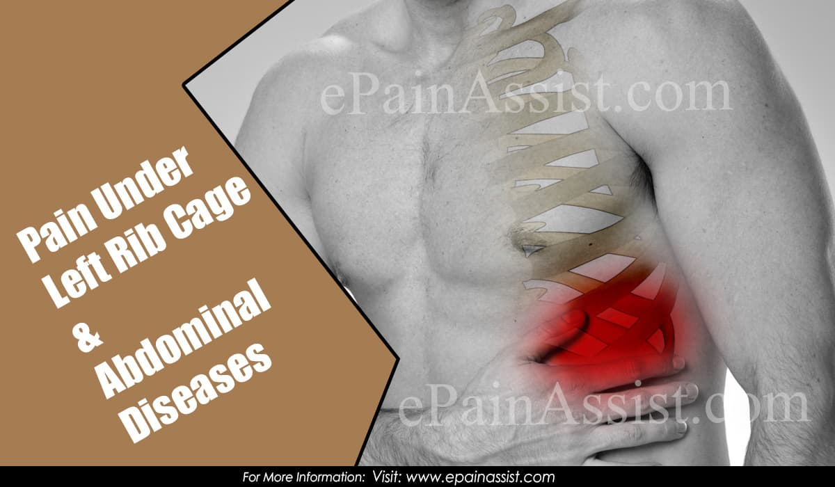 Pain Under Left Rib Cage & Abdominal Diseases