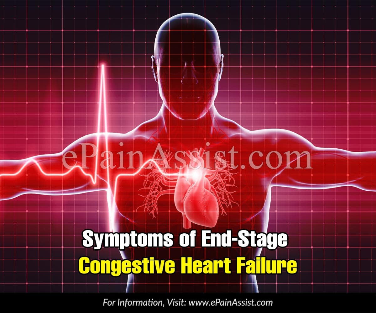 Symptoms of End-Stage Congestive Heart Failure