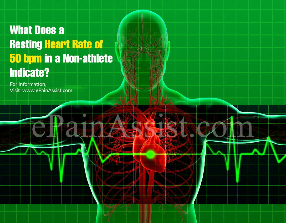What Does a Resting Heart Rate of 50 bpm in a Non-athlete Indicate?